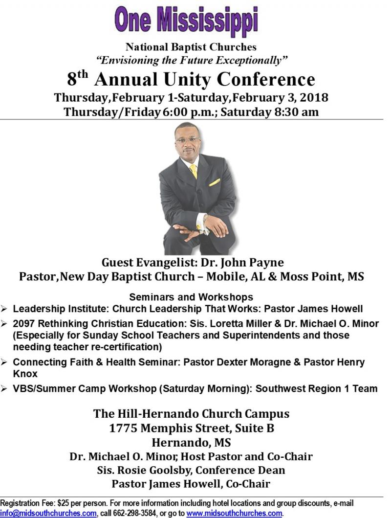 Mid South Churches Cooperative Conference Unity Conference
